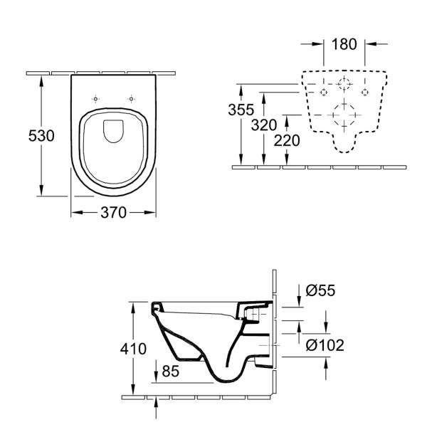 v b tiefsp lklosett omnia architectura 568410 370x530 wei alpin ceramicplus 4051202080952 ebay. Black Bedroom Furniture Sets. Home Design Ideas