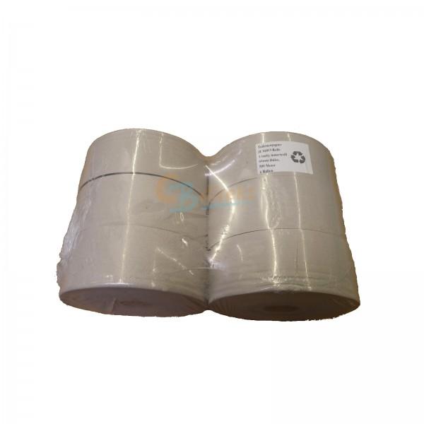 6 Rollen Jumbo Toilettenpapier 500m 1-lagig 25cm Krepp Großrolle