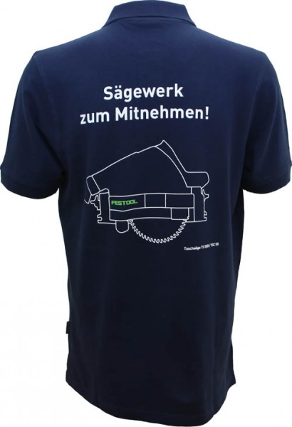"Festool Poloshirt dunkelblau ""Sägewerk"" Herren"