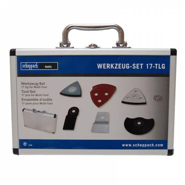 scheppach Multi-Tool-Werkzeug-Set 17tlg im Aluminium-Werkzeugkoffer