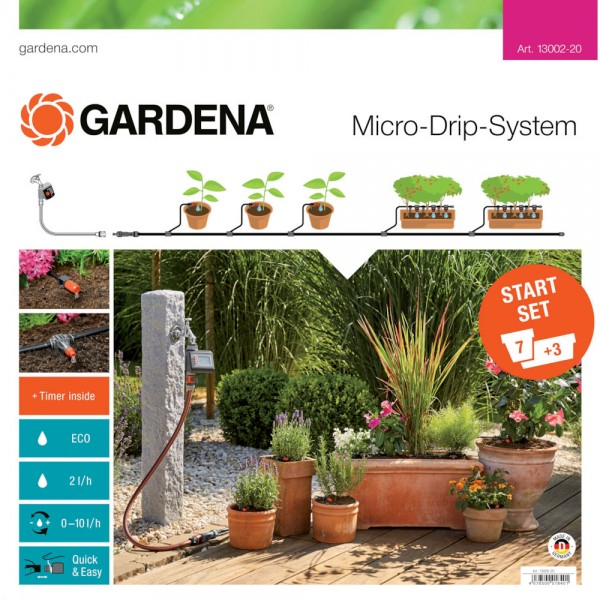 Gardena MDS Start-Set Pflanztöpfe M Automatic Micro-Drip-System 13002