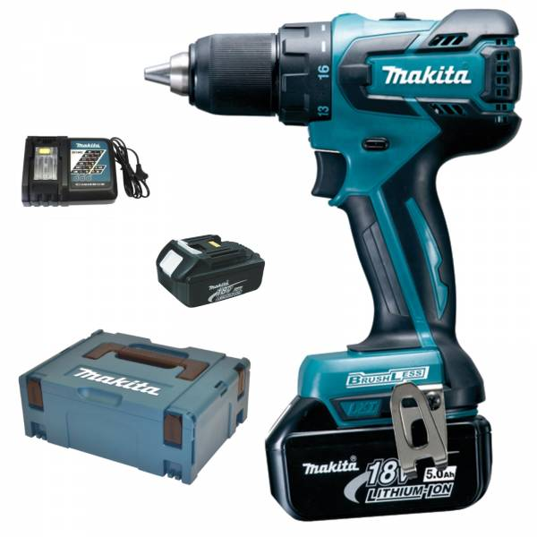 makita perceuse batterie 18 v ddf459rtj 2x piles 5 0 ah. Black Bedroom Furniture Sets. Home Design Ideas