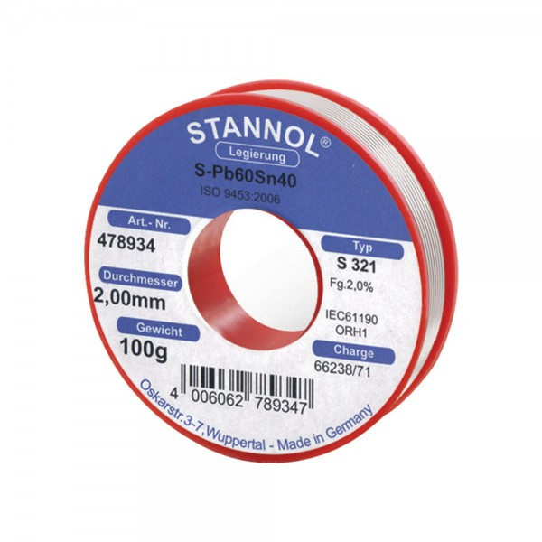 Lötdraht Nr.478893 250g Stannol