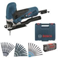 Bosch Stichsäge GST90E +Koffer +31 Stichsägeblätter +ToughBox Pendelhubstichsäge