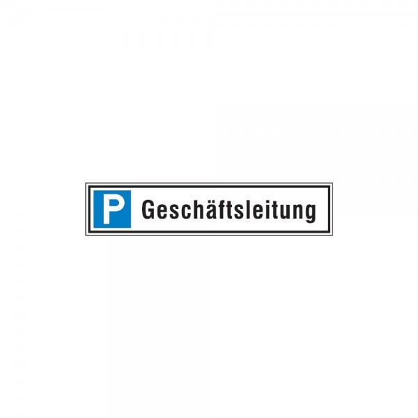 Parkplatzschild 520 x110 mm Alu, G-leit.
