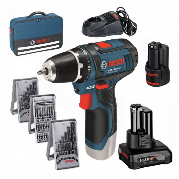 bosch cordless drill gsr 12v 15 gsr 10 8 2 li in bag with accessories ebay. Black Bedroom Furniture Sets. Home Design Ideas