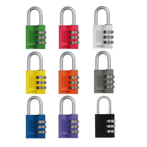 ABUS Zahlenvorhängeschloss 145/30 in verschiedenen Farben