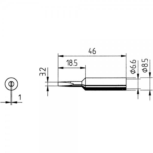 Ersatz-Lötspitze Meißel 3,2mm SB Ersa