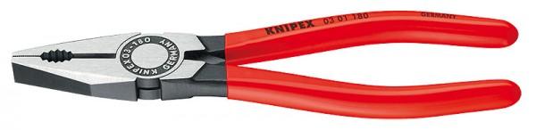 KNIPEX Kombizange schwarz atramentiert poliert mit Kunststoff überzogen 0301
