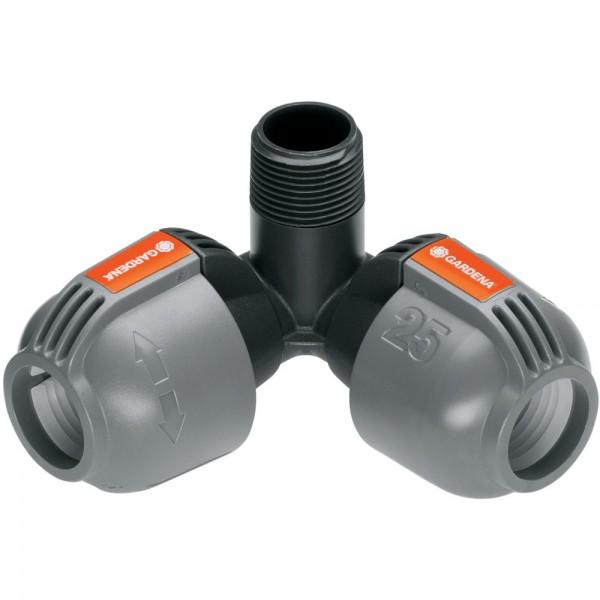 "Gardena Sprinklersystem Winkelstück 25 mm x 3/4"" AG 2783 Sprinkler"