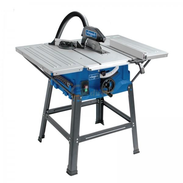scheppach 250 mm Tischkreissäge HS100S inkl. Tischverbreiterungen, Untergestell und Anschlägen