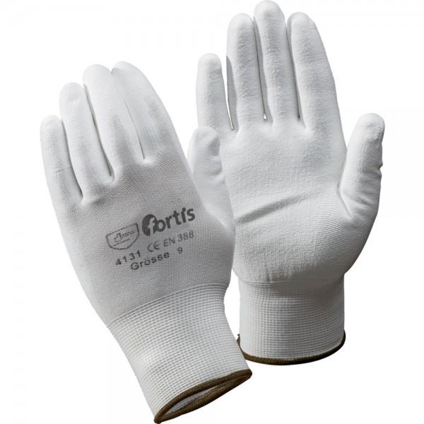 FORTIS Handschuhe Fitter PU/Nylon VPE 12 grau/weiß