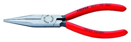 KNIPEX 30 21 160 Langbeckzange 160 mm schwarz atramentiert mit Kunststoff überzogen poliert
