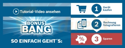 Bosch Bonus Bang Tutorial und Bosch Link