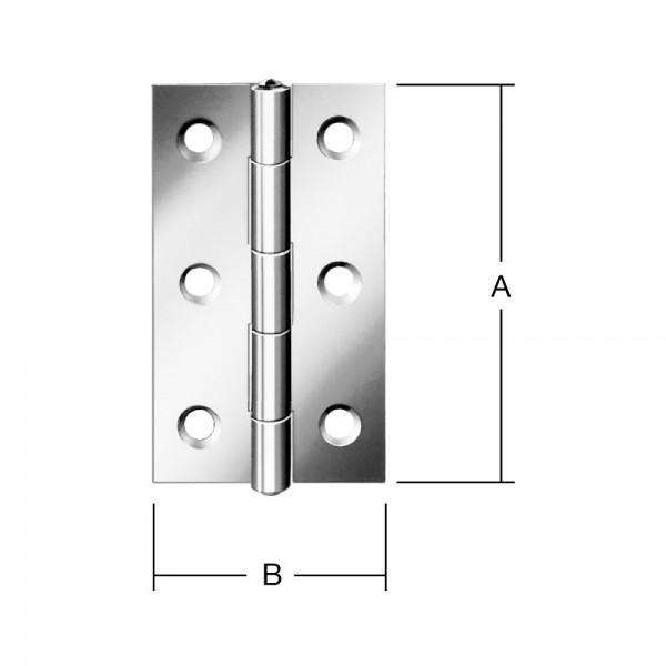 Scharniere schmal 80x41mm Nr. 501080Z