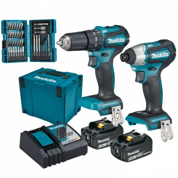makita boulonneuse batterie dtd155 dhp483 18v 2x piles 3 0 ah ebay. Black Bedroom Furniture Sets. Home Design Ideas
