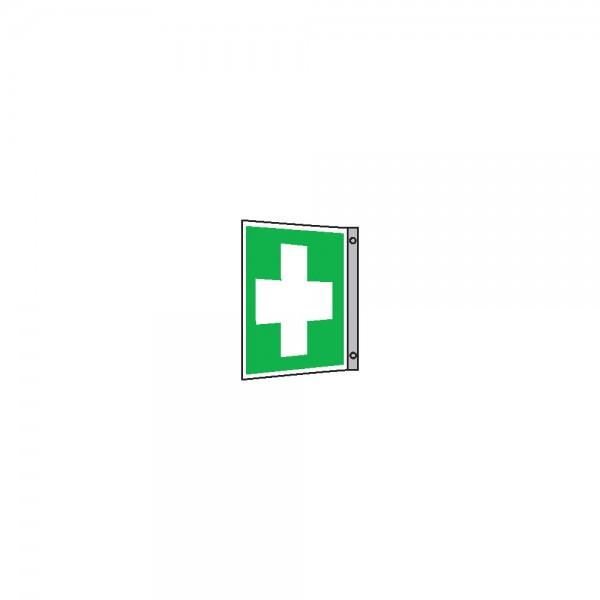 Rettungsschild Alu Erste Hilfe Fa. 200x200