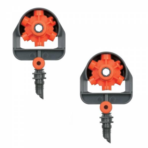2x Gardena MDS-6-Flächen-Sprühddüse 1396 Micro-Drip-System
