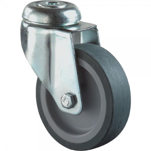 Lenkrolle 125 mm LGG1 Stahlbl verz. Gummirad