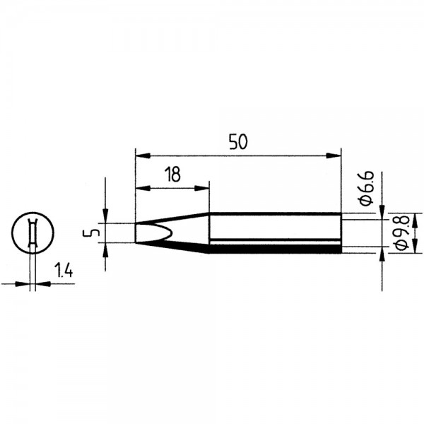 Ersatz-Lötspitze Meißel 5,0mm SB Ersa