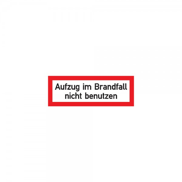 Aufzug im Brandfall n. b.Folie selbstk, 148x52
