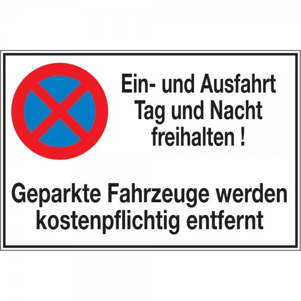 Symbol Ein- und AusfahrtAluminium geprägt