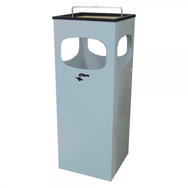 Abfall-Ascherbehälter Kuba neusilber