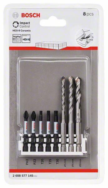 8-teilig Hex-9 Ceramic Bosch Bohrer und Schrauberbit-Set