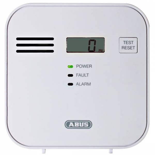 Abus Kohlenmonoxid-Warnmelder COWM300 Kohlenmonoxidwarnmelder 37241 +Befestigung