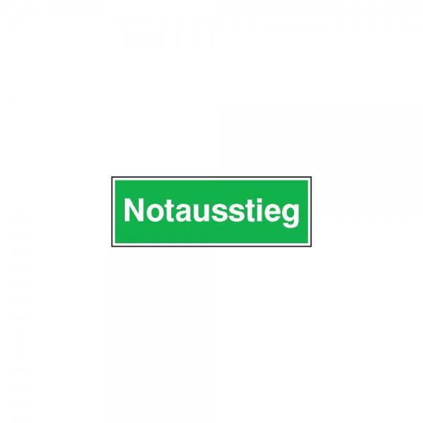 Sicherheitsschild Alu Notausstieg 300x105