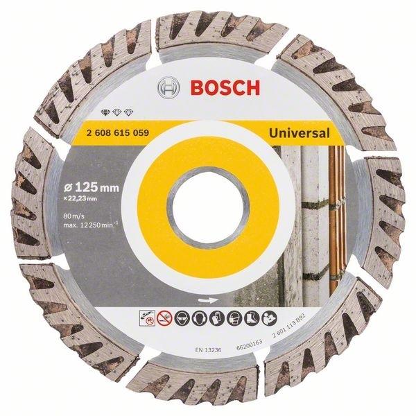 bosch diamanttrennscheibe best for universal 125x22 23 mm 2608615059 cbdirekt profi shop f r. Black Bedroom Furniture Sets. Home Design Ideas