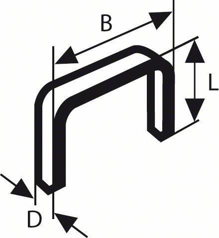 BOSCH FEINDRAHTKLAMMER TYP 53, 11,4 X 0,74 X 14 MM, 1000ER-PACK