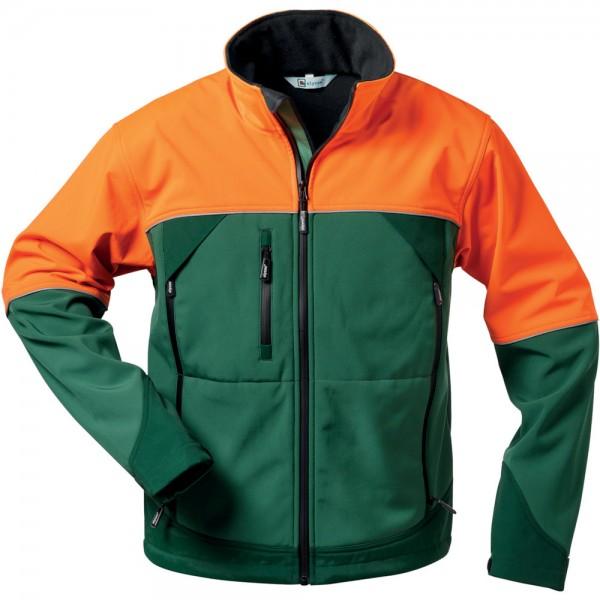Forstjacke Sanddorn, Softshell,Gr.L,grün-orange