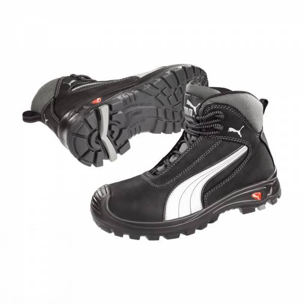 Puma Sicherheitsschuh Cascades Mid S3 HRO schwarz/grau 630210 Arbeitsschuh