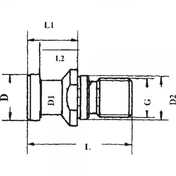 Anzugsbolzen DIN69872 B SK50-M24 GSW