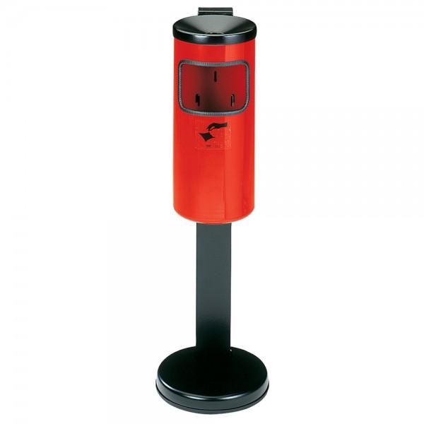Abfall-Ascher Rondo rot mit Standfuß