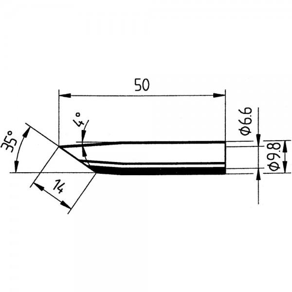 Ersatz-Lötspitze 14mm angeschr. SB Ersa