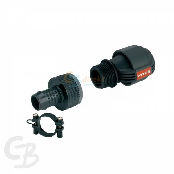 gardena sprinkler anschluss set 19mm auf 25mm cbdirekt profi shop f r werkzeug sanit r garten. Black Bedroom Furniture Sets. Home Design Ideas