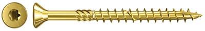 fischer MDF-Plattenschraube TX Senkkopf kl gelb vz TG Ø 3,5 bis 4,5 mm