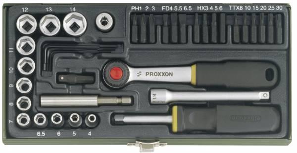 """PROXXON Schraubersatz 1/4"""" (39-teilig) 23070"""