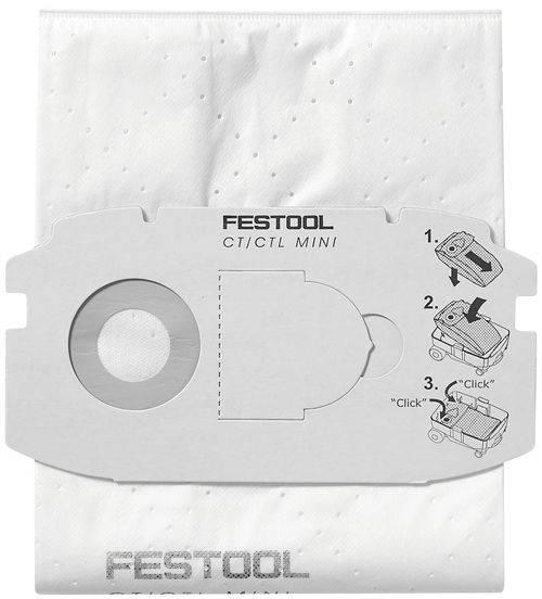 Festool SELFCLEAN Filtersack SC FIS-CT MINI/5 498410