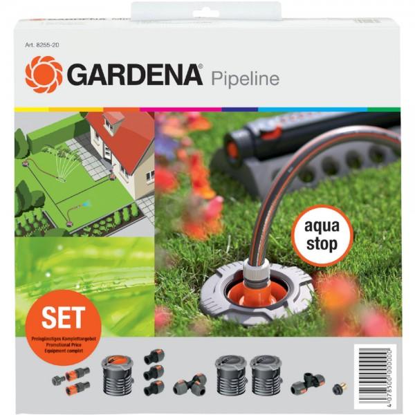 Gardena Sprinklersystem Start-Set für Garten-Pipeline 8255 (vorh. 2702) Sprinkler