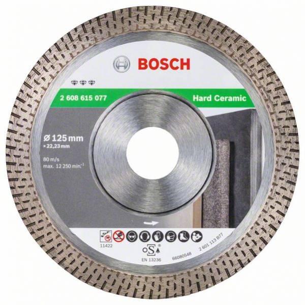 Bosch Diamanttrennscheibe Best for Hard Ceramic, 125 x 22,23 x 1,4 x 10 mm