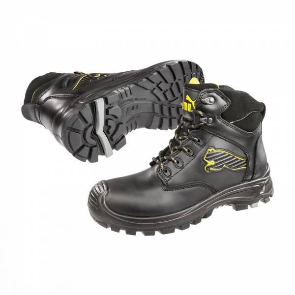 Puma Sicherheitsschuh Borneo Black Mid S3 HRO SRC Arbeitsschuh 630411 schwarz/grau