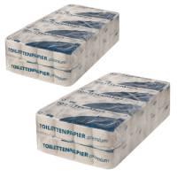 128 Rollen Premium Toilettenpapier RC Tissue weiß 2-lagig 250 Blatt