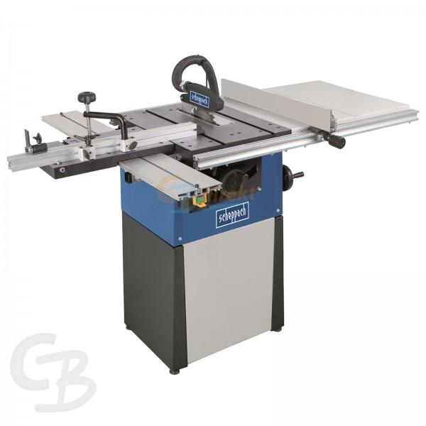 scheppach Tischkreissäge TS82 mit Schiebeschlitten, Tischverbreiterung und Untergestell