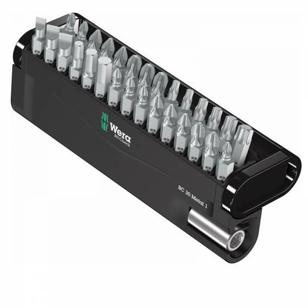 Wera Bit-Check Metal 1 30-teiliges Bit-Set mit Universalhalter Metall