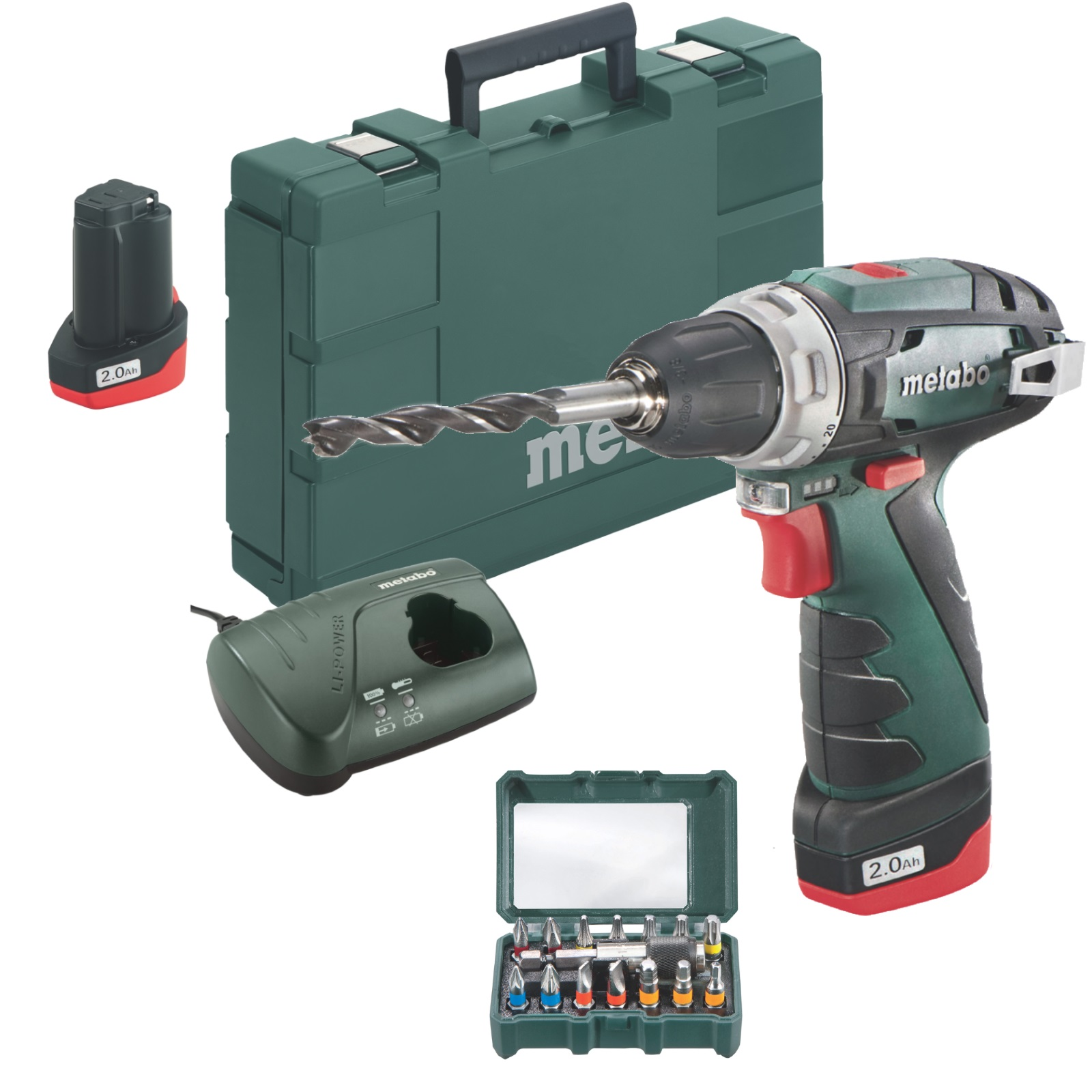 metabo akku bohrschrauber powermaxx bs basic set bitbox akku 10 8 v ladeger t ebay. Black Bedroom Furniture Sets. Home Design Ideas
