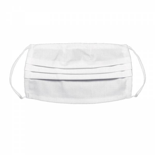 Mund- und Nasenmaske aus Stoff waschbar weiß Gesichtsmaske Mundbedeckung