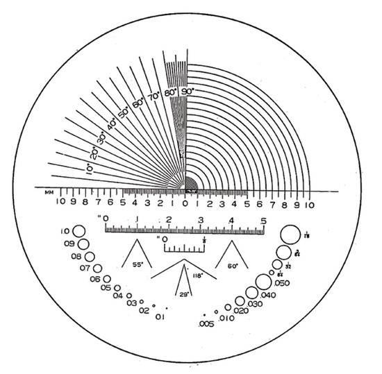 Ersatz-Präzisions-Skala Typ C Eschenbach 115203 für Skalenlupe